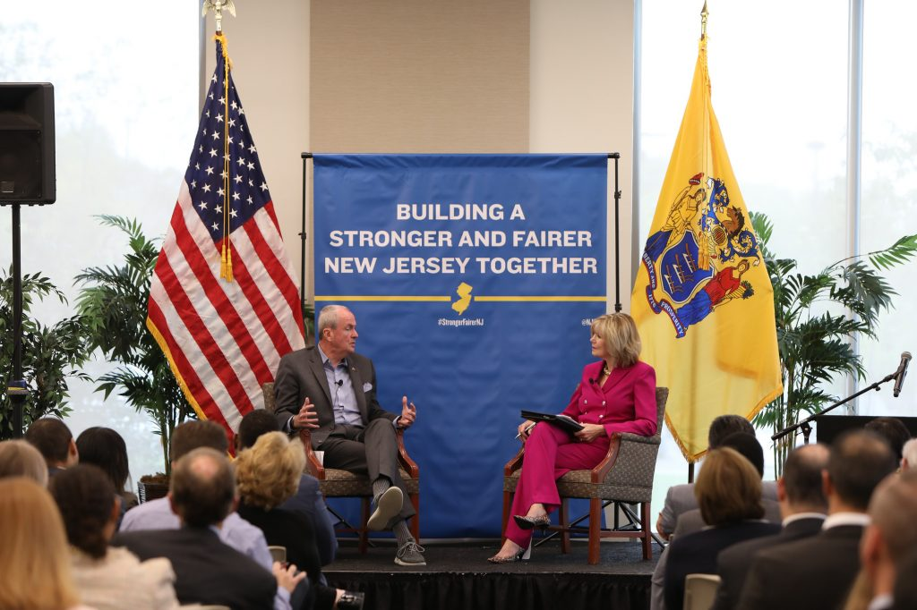 Gov. Phil Murphy highlights his administration's economic successes over the past year on the one-year anniversary of the release of his economic vision plan at Rowan University on Oct. 1, 2019.