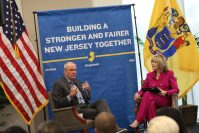 ov. Phil Murphy highlights his administration's economic successes over the past year on the one-year anniversary of the release of his economic vision plan at Rowan University on Oct. 1, 2019.