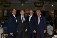 From left, Joe Marino, co-founder and managing member M&M Realty Partners; Staff Sgt. David Bellavia; Jack Morris, founder, CEO and president Edgewood Properties; and Bob Zito, president Cento Amici at Cento Amici's annual dinner Oct. 14 at the Stone House at Stirling Ridge in Warren. - ZITO PARTNERS