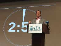 Charles Fuschillo, president and CEO of AFA speaks at Rutgers University during the Alzheimer's Foundation of America (AFA) Educating America Tour: Concepts in Care Educational Conference on Oct. 29, 2019. - ANTHONY VECCHIONE