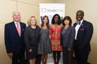 From left, Dr. Frank Mazzarella, chief medical officer, Clara Maass Medical Center; Mary Ellen Clyne, president and chief executive officer, Clara Maass Medical Center; New Jersey First Lady Tammy Snyder Murphy; Nicole McGrath-Barnes, founder and CEO, KinderSmile Foundation; Dr. Annette Cozzarelli-Franklin, director, Women's Health Services, Clara Maass Medical Center; and Darwin Hayes, State of New Jersey Dental Director. Credit: KSF