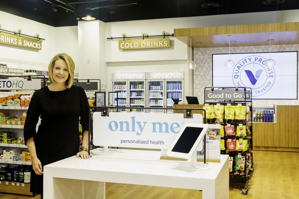 Sharon Leite, CEO of The Vitamin Shoppe, in the company's new innovation store, launched in October 2019, in Edgewater.