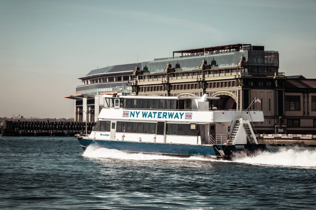 A NY Waterway ferry.