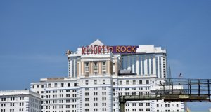 ATLANTIC CITY, NEW JERSEY, USA - JUNE 26, 2019: The Hard Rock Hotel and Casion in Atlantic City, formerly the Trump Taj Mahal
