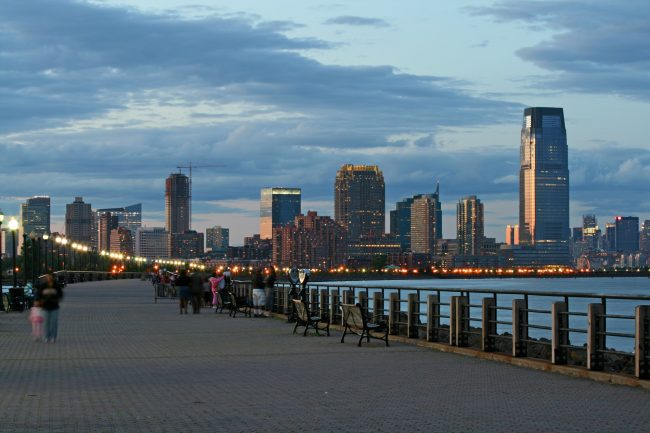 The Jersey City skyline from the Liberty State Park