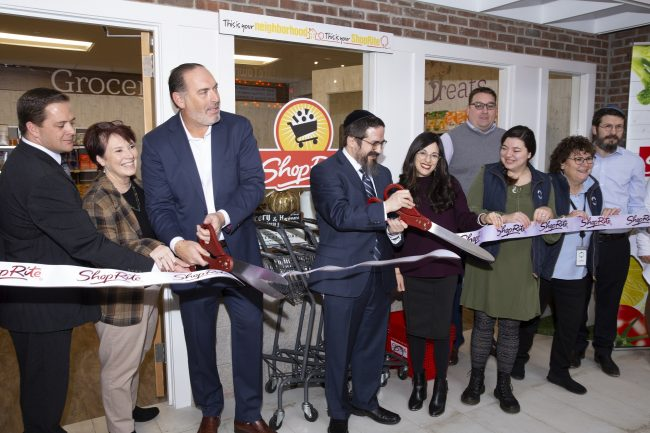 """ShopRite cuts the ribbon at its """"location"""" as part of the LifeTown Shoppes at LifeTown in Livingston on Nov. 19, 2019."""