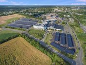 According to CentraState, together with its preexisting ground mounted solar system, the new carport system makes it the largest solar powered hospital in New Jersey.