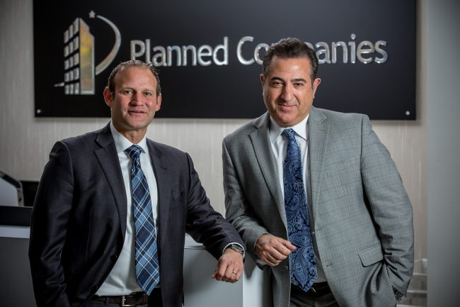 From left, Rob Francis, president and CEO, and Peter Theodoropoulos, chief innovation officer, Planned Cos. - AARON HOUSTON