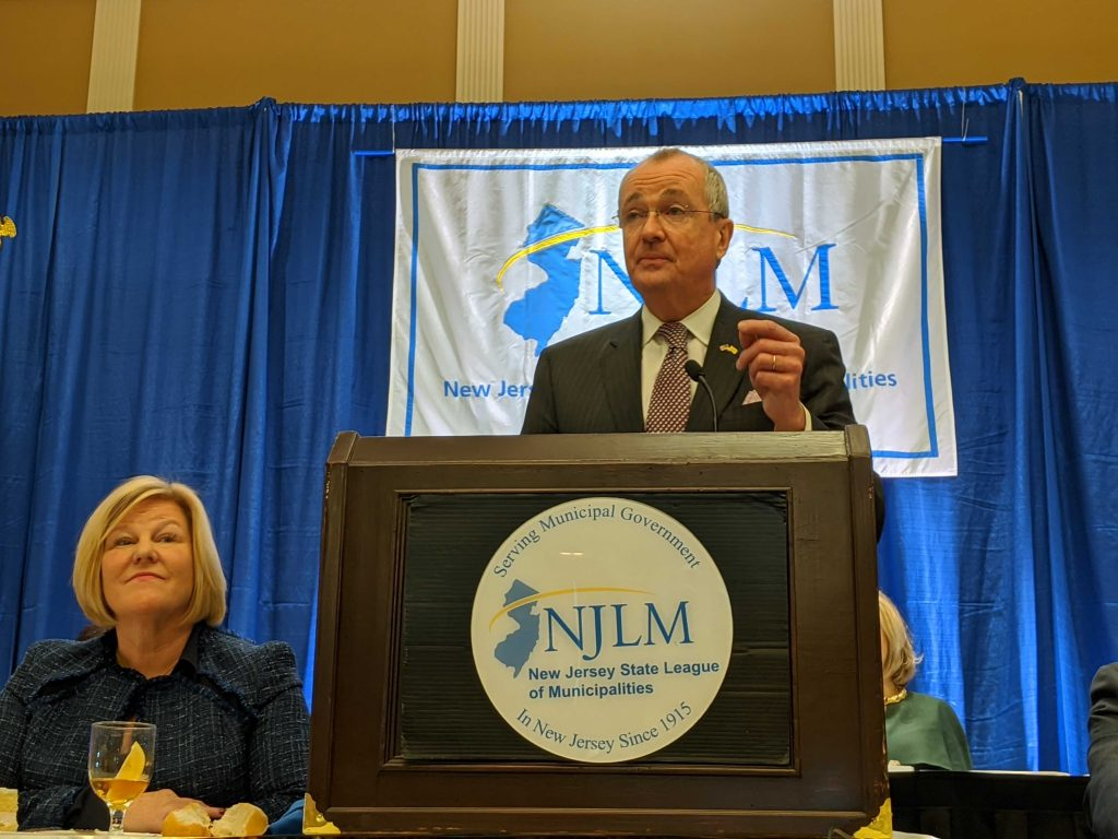 Gov. Phil Murphy speaks at the New Jersey League of Municipalities conference in Atlantic City on Nov. 21, 2019.