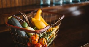 Basket Vegetables Food Fresh Organic Healthy, zucchini, summer, groceries, grocery, food shopping, stock, stock photo, pixabay