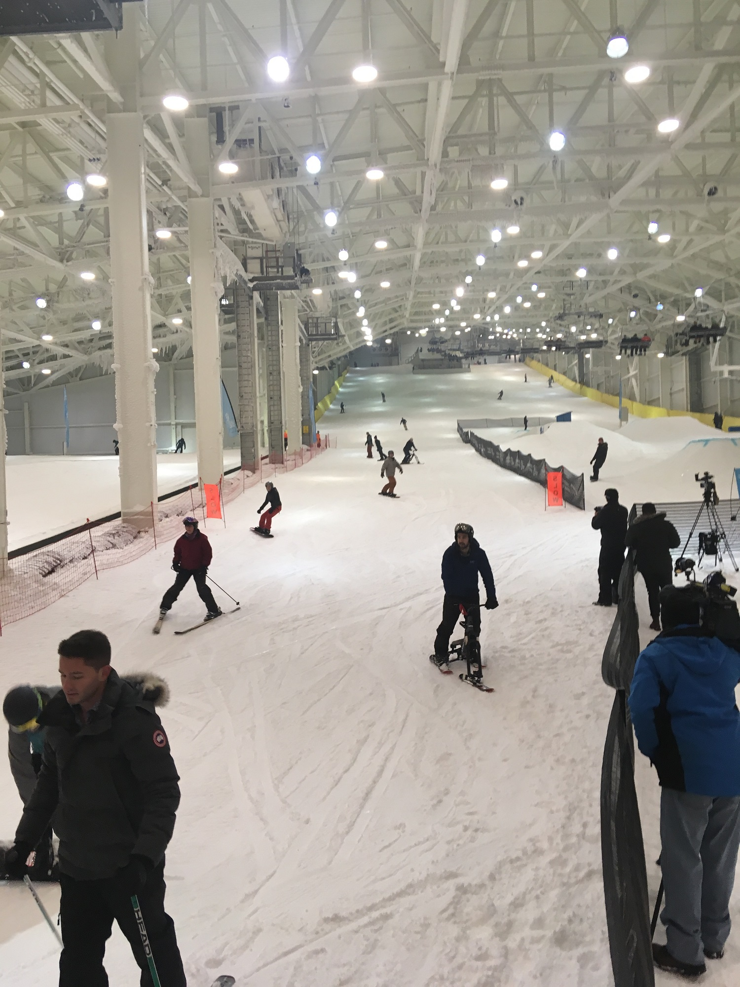 Big SNOW at American Dream in the Meadowlands.