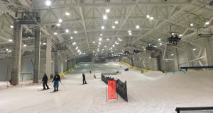 Big SNOW at American Dream in East Rutherford.