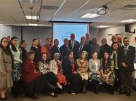 Senate President Steve Sweeney with the NJ Coalition of Latino Pastors and Ministers on Dec. 4, 2019 - NJSENDEMS