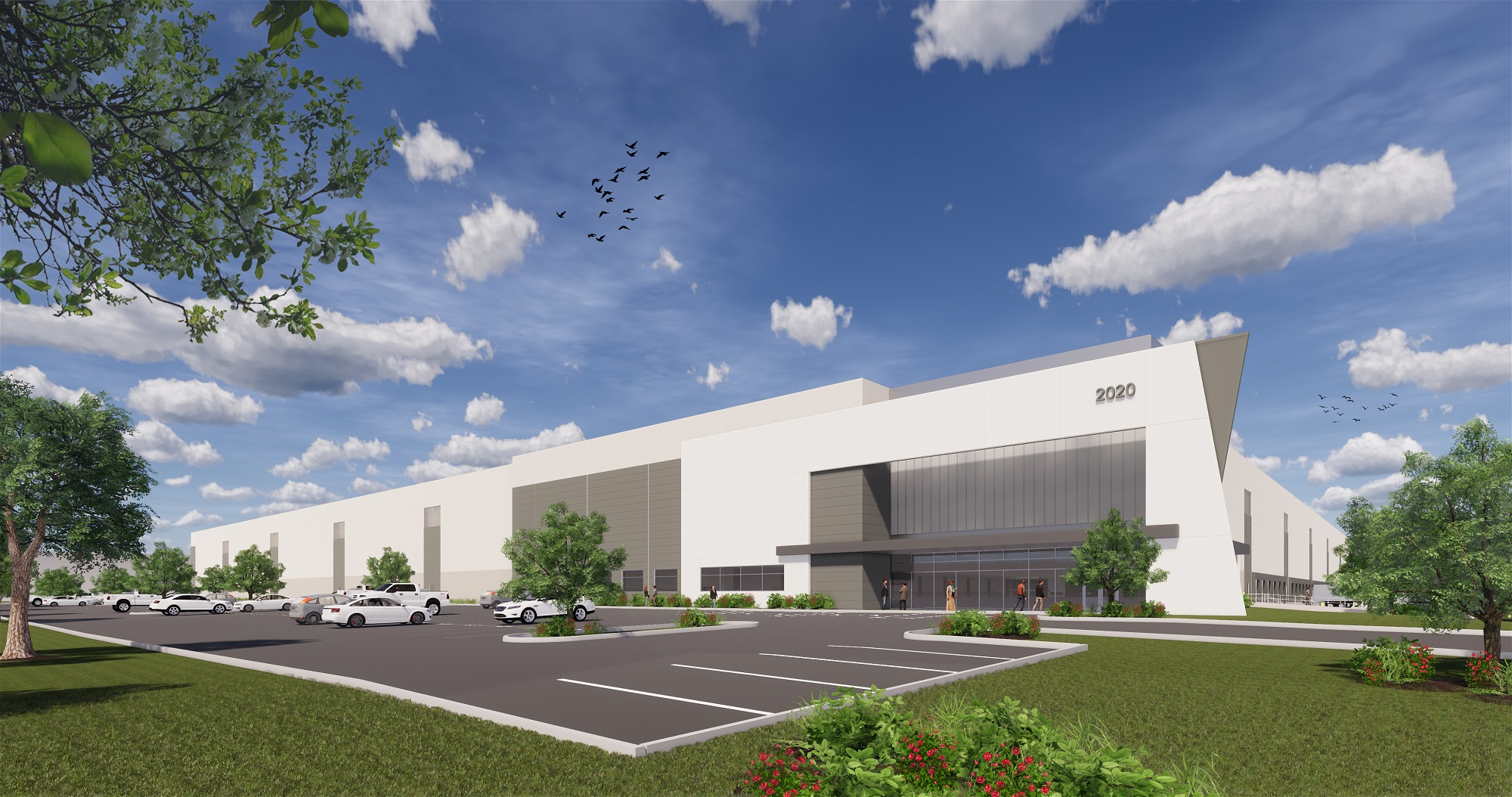 Rendering for Veronica Ave. in Franklin Township. - CROW HOLDINGS INDUSTRIAL