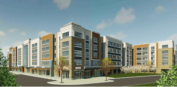 Rendering for 10 Green St. at the Woodbridge train station. - PRISM