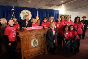 Gov. Phil Murphy signs legislation appropriating $9.5 million for family planning services to replace critical federal funding impacted by the Trump Administration's Title X gag rule in Trenton on Jan. 2, 2020.