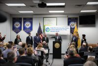 Gov. Phil Murphy announces his talent-based economic development strategy Jobs NJ: Developing Talent to Grow Business in the Garden State at the East Brunswick campus of Middlesex County Vocational and Technical Schools on Jan. 15, 2019.