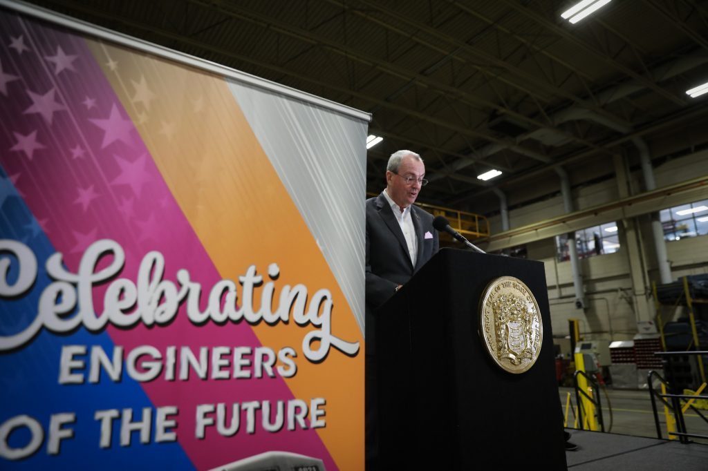 Gov. Phil Murphy made the fare announcement while attending New Jersey Transit's engineer completion of formal training ceremony in Kearny on Jan. 21, 2020.
