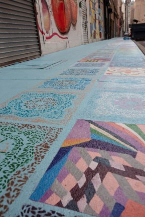 Welcome Quilt by Daniela Pulliti for the Four Corners Art Project in Newark.