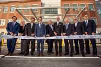 Executives from the Hampshire Cos. were joined by Hackensack Meridian Health, Ardent Health Services, and Circle Squared Alternative Investments for the Hackensack Meridian Health ribbon cutting ceremony on Jan. 9, 2020. - HACKENSACK MERIDIAN HEALTH