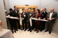 Second and third from left, Lord Abbett Managing Partner Douglas Sieg and Jersey City Medical Center President and CEO Michael Prilutsky join with JCMC and elected officials to cut the ribbion officially opening the Lord Abbett Maternity Wing at JCMC on Jan. 14, 2020.