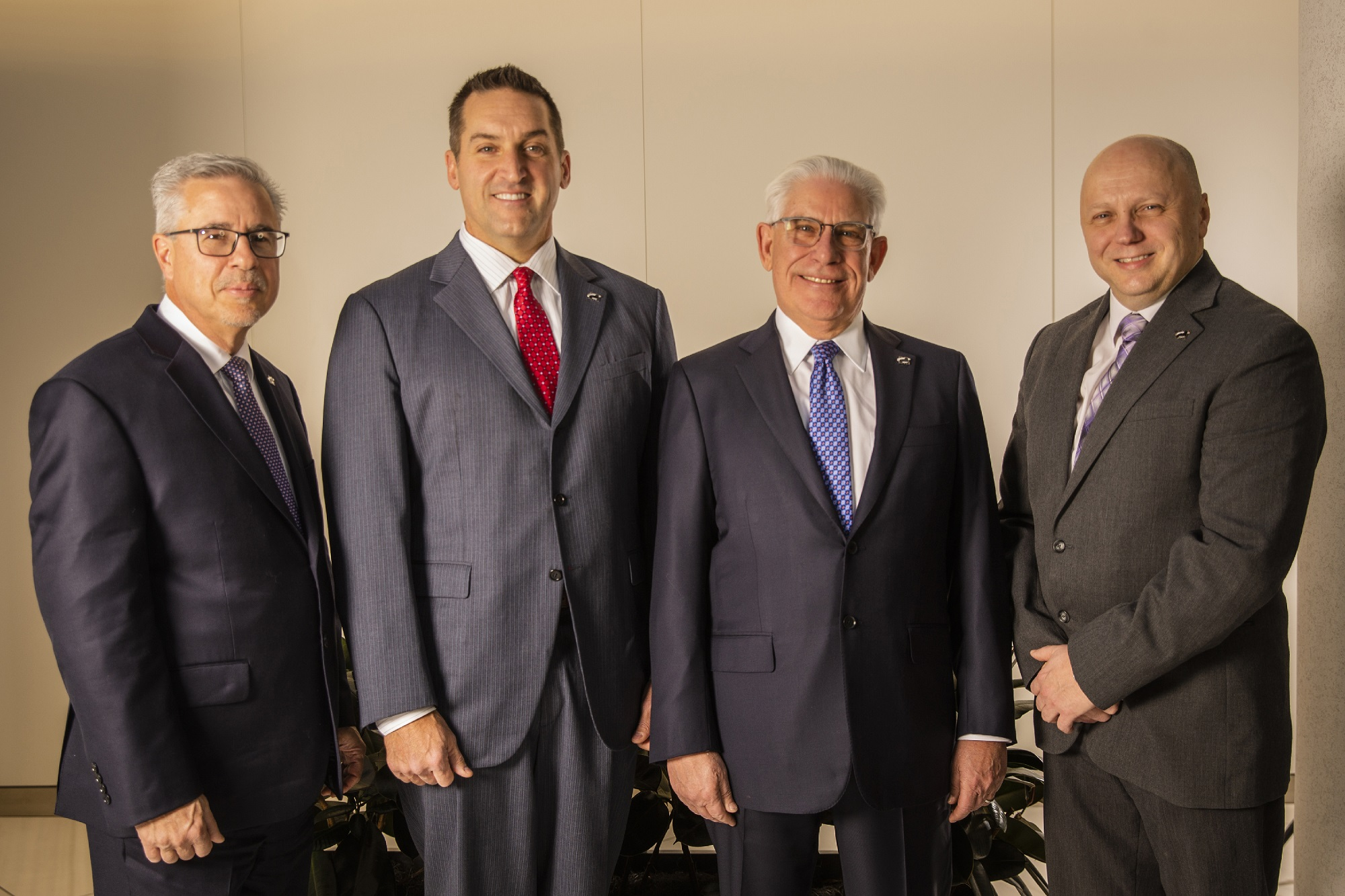 From left, Joseph Dopico, COO; Kevin Haney, CEO and president; Richard Maser, founder and executive chairman; and Leonardo Ponzio, executive vice president and chief administrative officer.- MASER CONSULTING