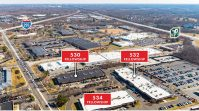 Aerial view of the Mount Laurel Office Center at 530, 532 and 534 Fellowship Road. - JLL
