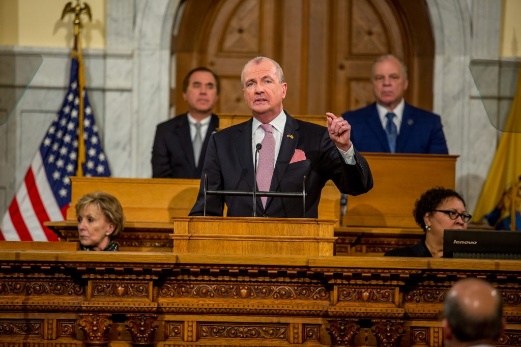 Gov. Phil Murphy delivers his 2020 State of the State address in Trenton on Jan. 14, 2020.