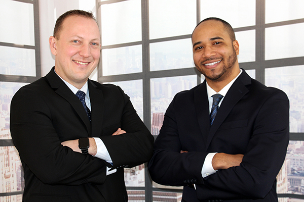 From left, Tom Woroniecki and Trevor Taylor, vice presidents and regional market managers, Blue Foundry Bank.