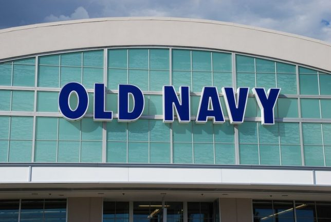 Old Navy storefront.