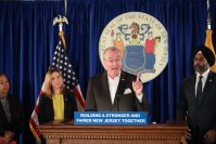 Gov. Phil Murphy announces legislation to overhaul New Jersey's anti-workplace harassment law for public and private employers on February 18, 2020.