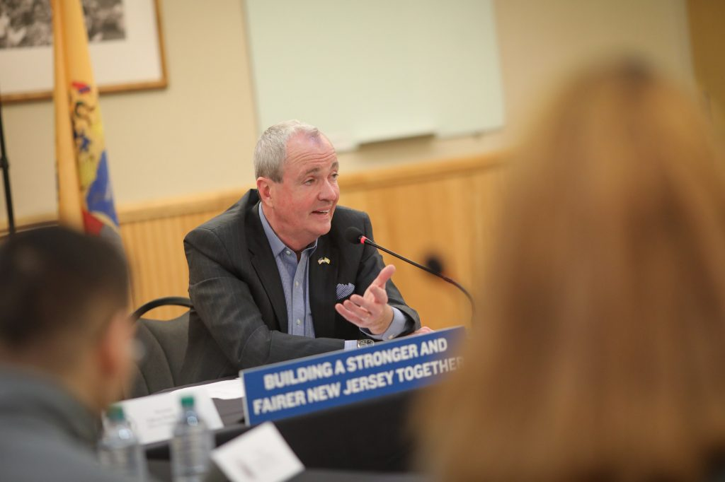 Gov. Phil Murphy visits William Paterson University on Feb. 26, 2020, to announce the Garden State Guarantee grant program, which would provide eligible students at New Jersey's four-year public institutions the opportunity to receive free tuition and fees for two years of study.