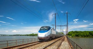 Acela Express in northeast Maryland.