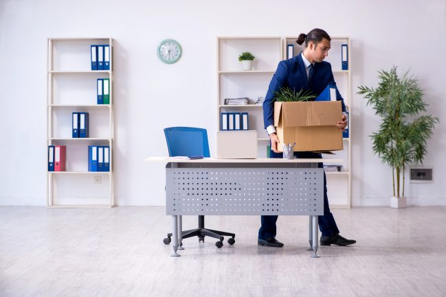 The young employee being made redundant