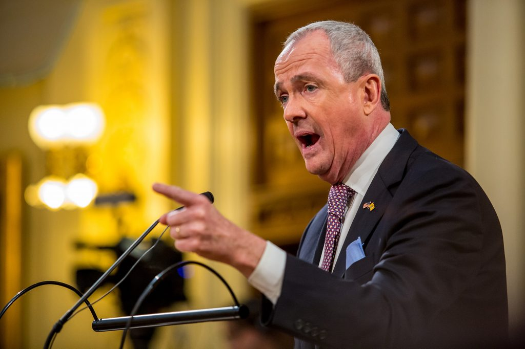 Gov. Phil Murphy delivers his Fiscal Year 2021 Budget Address in Trenton on Feb. 25, 2020. - AARON HOUSTON