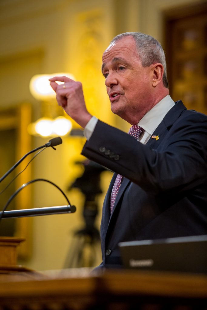 Governor Phil Murphy delivers his Fiscal Year 2021 Budget Address in Trenton on Feb. 25, 2020.