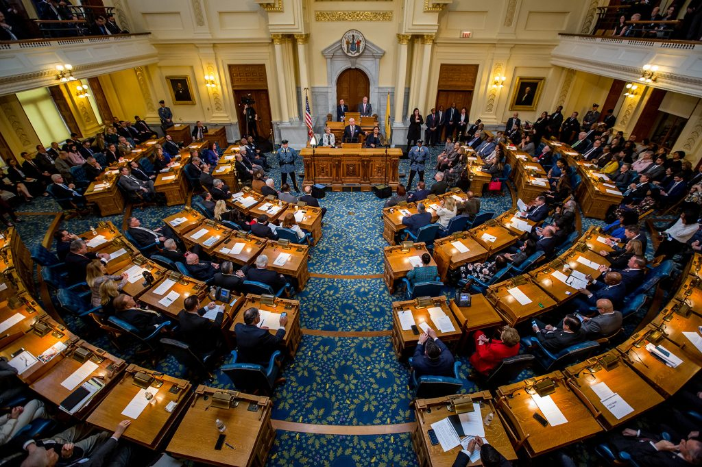 Gov. Phil Murphy delivers his Fiscal Year 2021 Budget Address in Trenton on Feb. 25, 2020.