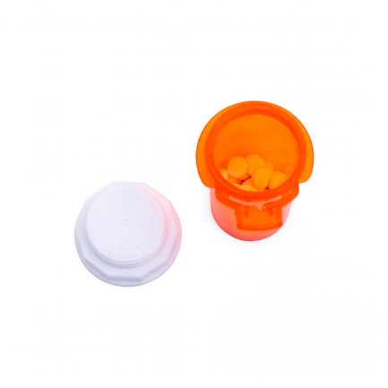Pill bottle with medication.