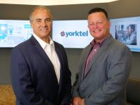 From left, Yorktel President and COO Ken Scaturro and CEO Ron Gaboury.