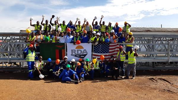 Zambian engineers, technicians and contractors during training in the assembly, installation and maintenance of Acrow bridges. - ACROW