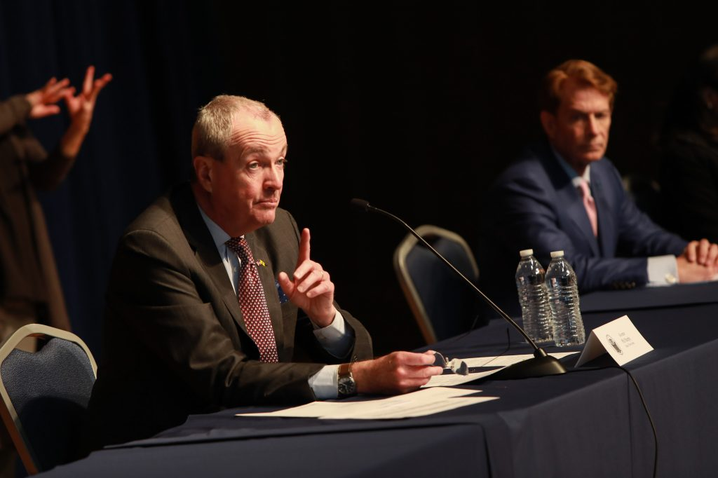 Gov. Phil Murphy holds a coronavirus briefing in Trenton on March 19, 2020