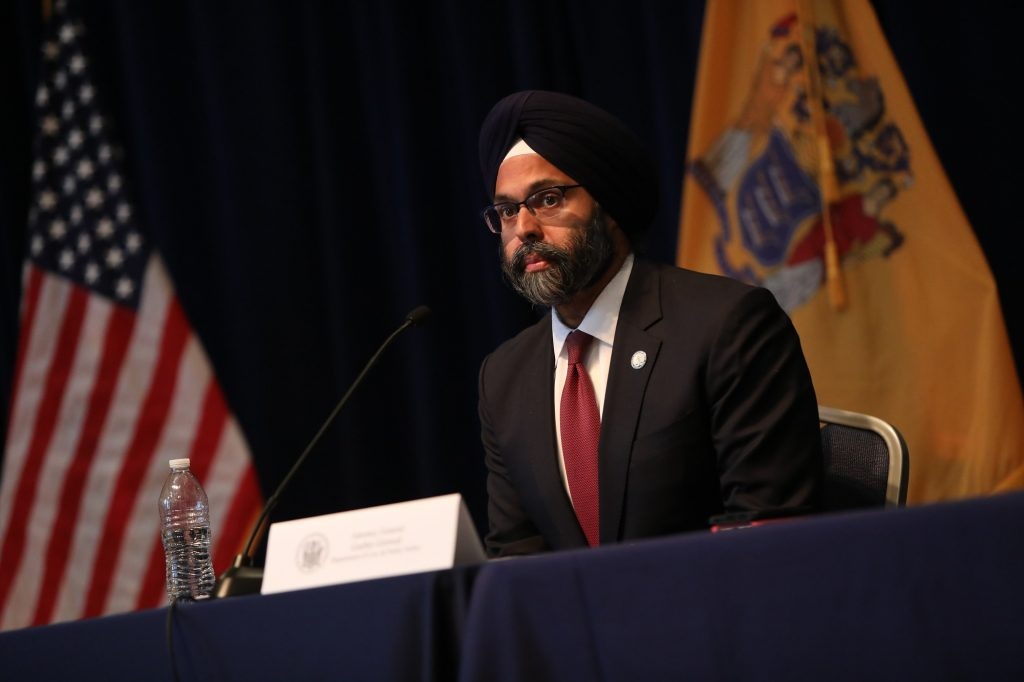 Attorney General Gurbir Grewal attends the daily coronavirus briefing in Trenton on March 23, 2020.