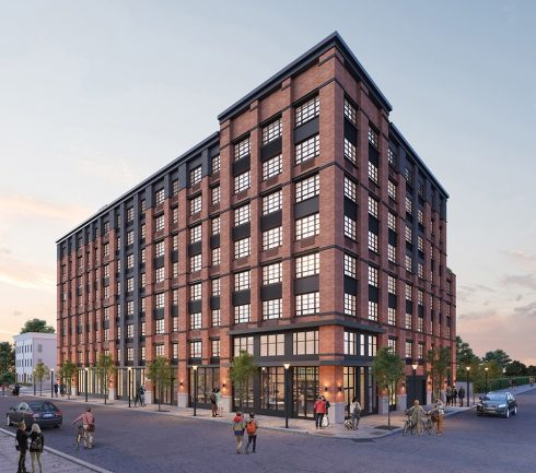 Rendering for BeLa at 74 Maple St. in Jersey City. - JLL