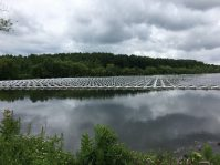 The NJR Clean Energy Ventures-owned 4.4-megawatt floating platform photovoltaic system generates clean power which is sold to the Sayreville through a 15-year power purchase agreement, and provides 100 percent of electricity necessary to run the borough's water treatment facility.