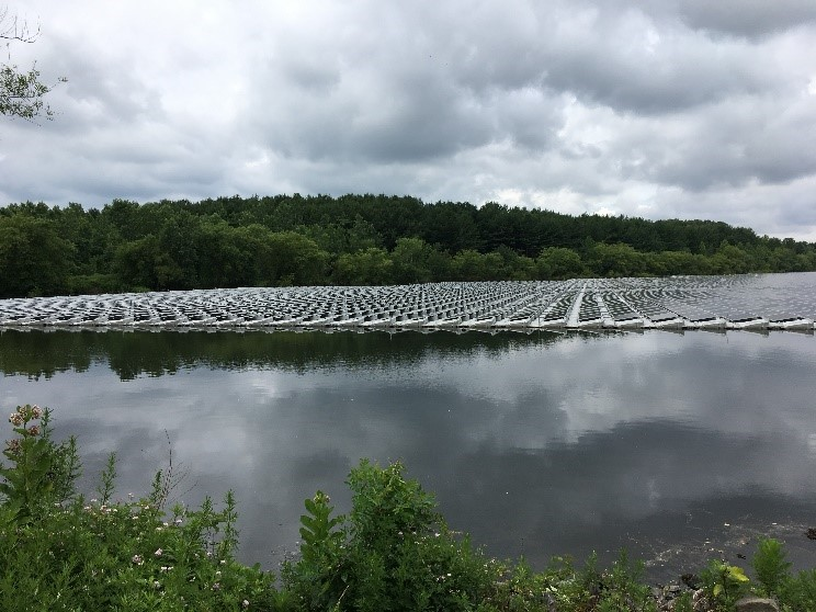 The Clean Ventures-owned 4.4-megawatt floating platform photovoltaic system generates clean power which is sold to the Sayreville through a 15-year power purchase agreement, and provides 100 percent of electricity necessary to run the borough's water treatment facility.