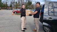 DSM North America President and General Counsel Hugh Welsh delivers WellStix to the Parsippany Police Department.