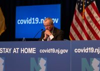 Photo pool coverage of Gov. Phil Murphy's April 15, 2020 COVID-19 briefing.