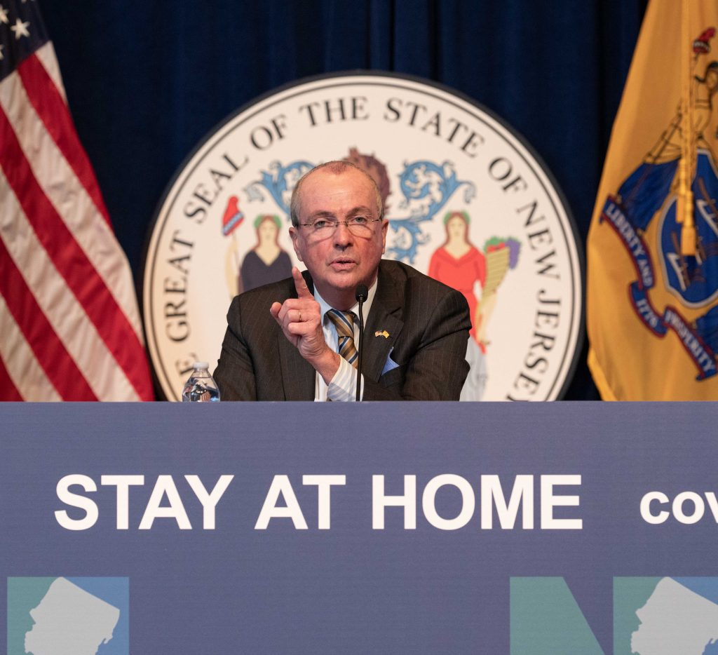 Gov. Phil Murphy at his COVID-19 press conference on April 23, 2020 in Trenton.