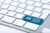 PPP Paycheck Protection Program concept. Inscription on Keyboard Key