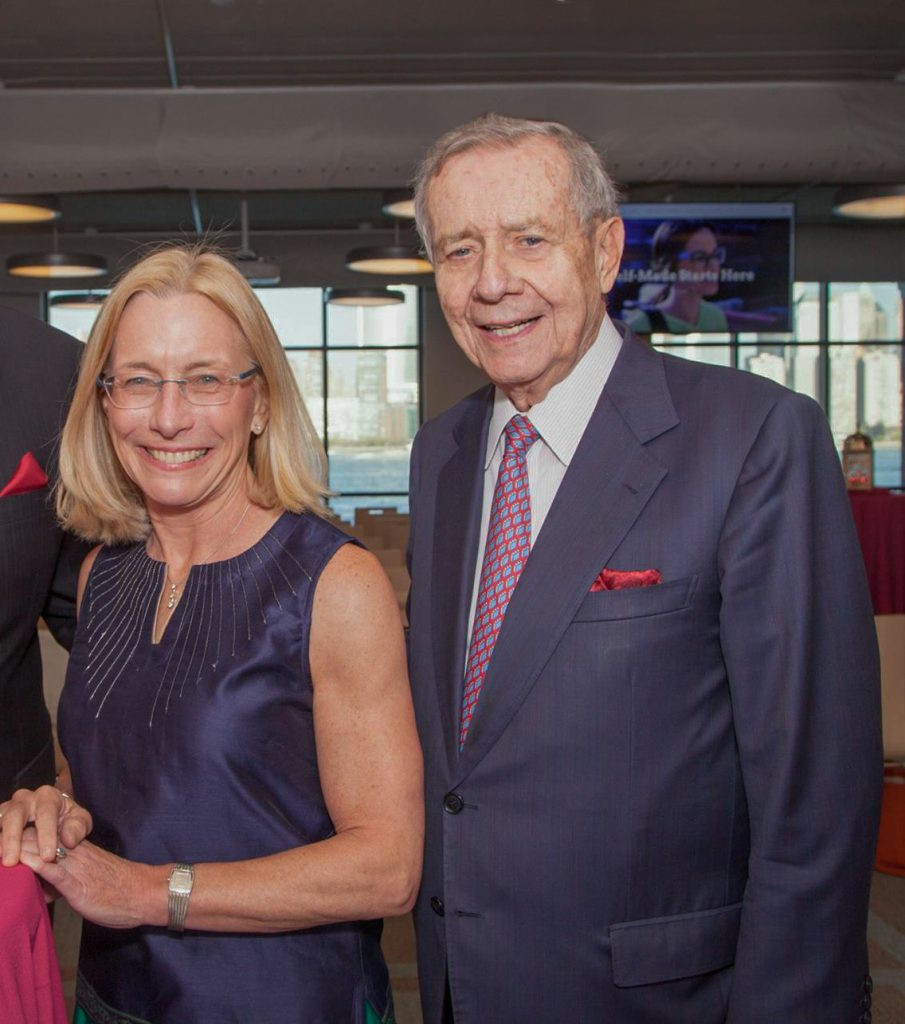 New Jersey City University President Sue Henderson and former U.S. Rep. Frank Guarini. - NEW JERSEY CITY UNIVERSITY